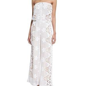 Miguelina Piper Scallop Lace Jumpsuit - Pure White